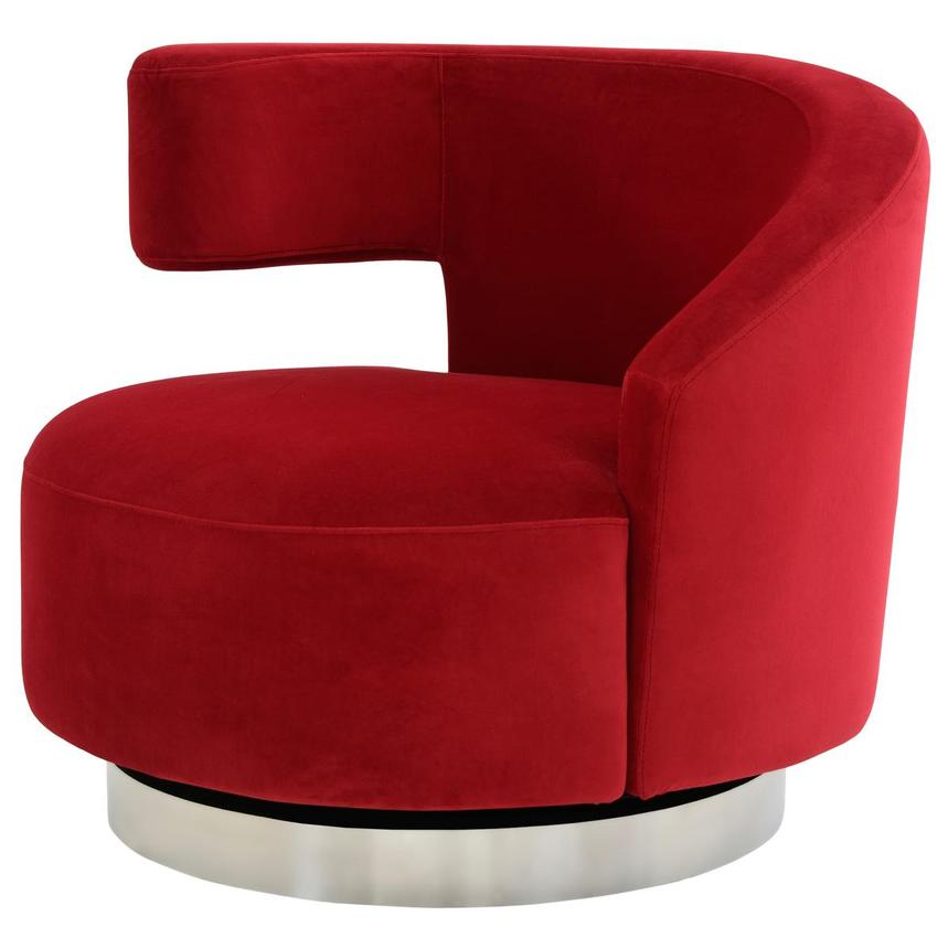 Okru Red Swivel Chair El Dorado Furniture
