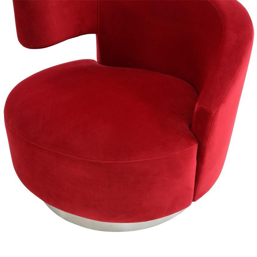 Okru Red Swivel Chair  alternate image, 6 of 7 images.
