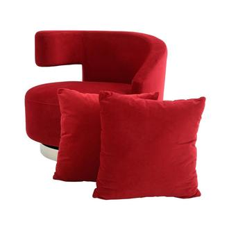 Okru II Red Swivel Chair w/2 Pillows