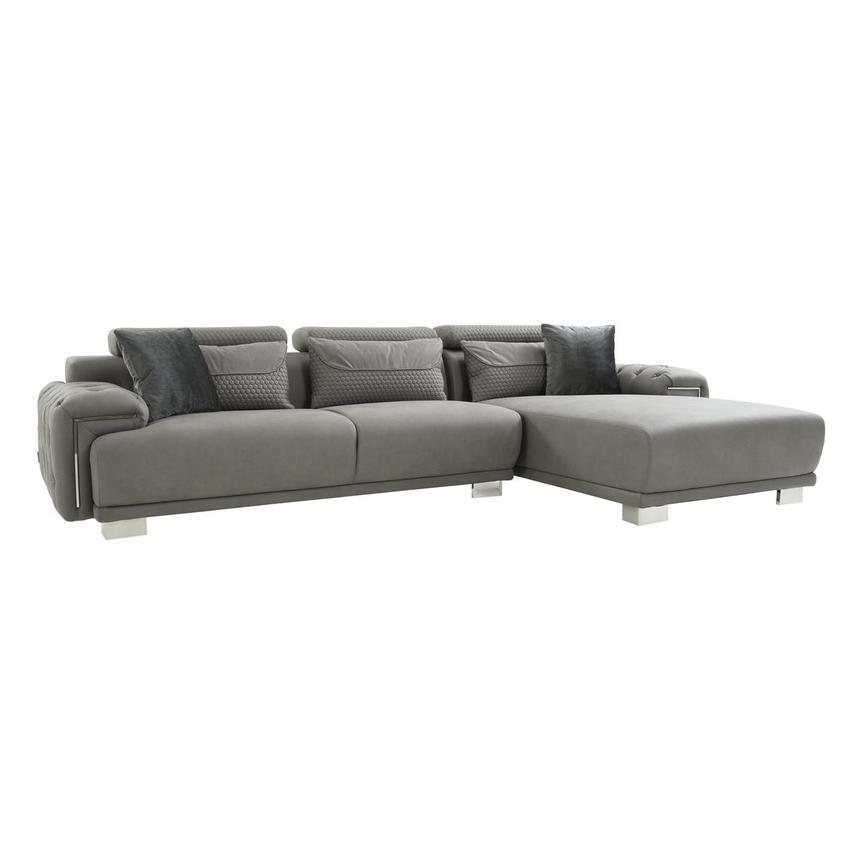 Zulima Corner Sofa w/Right Chaise  main image, 1 of 9 images.