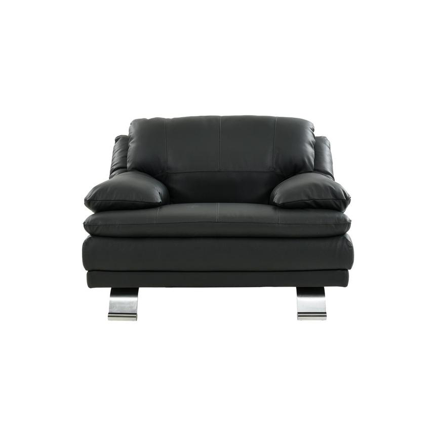 Rio Dark Gray Leather Chair  main image, 1 of 7 images.