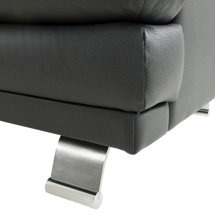 Rio Dark Gray Leather Chair  alternate image, 6 of 7 images.
