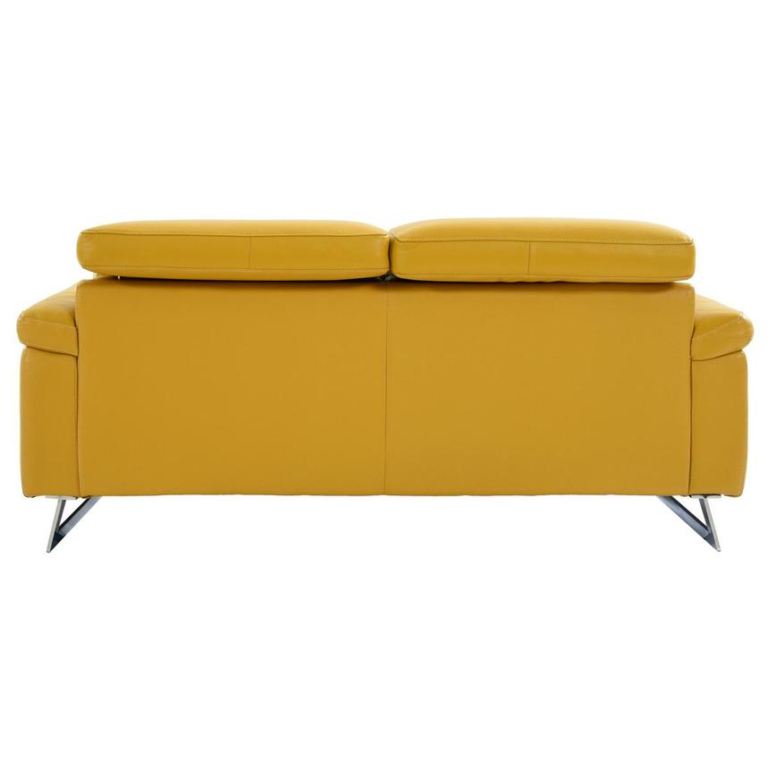 Gabrielle Yellow Leather Power Reclining Loveseat  alternate image, 5 of 10 images.