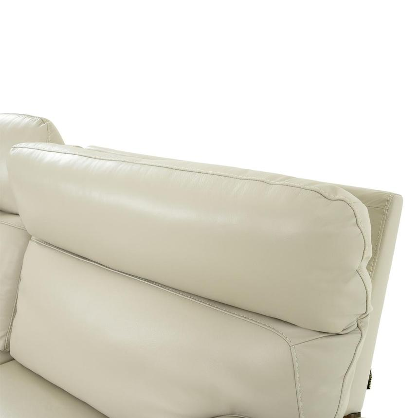 Benz Cream Leather Power Reclining Sectional  alternate image, 6 of 12 images.