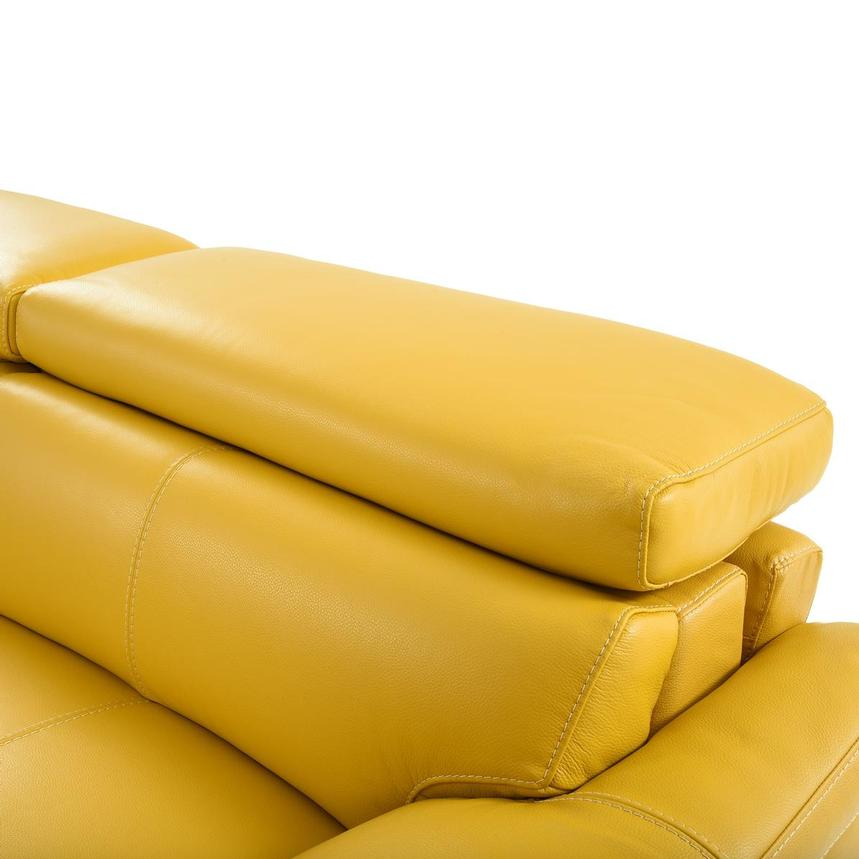 Gabrielle Yellow Leather Power Reclining Sofa  alternate image, 6 of 11 images.