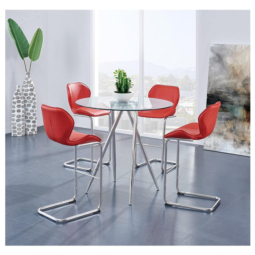 Latika Red 4-Piece Counter Dining Set  alternate image, 2 of 9 images.