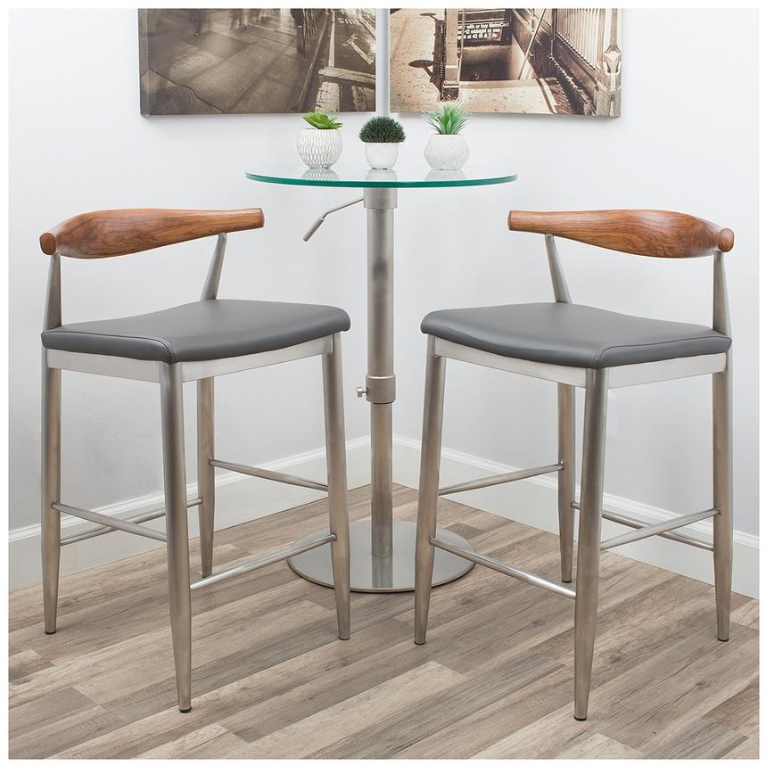 Timber Gray Counter Stool  alternate image, 3 of 9 images.