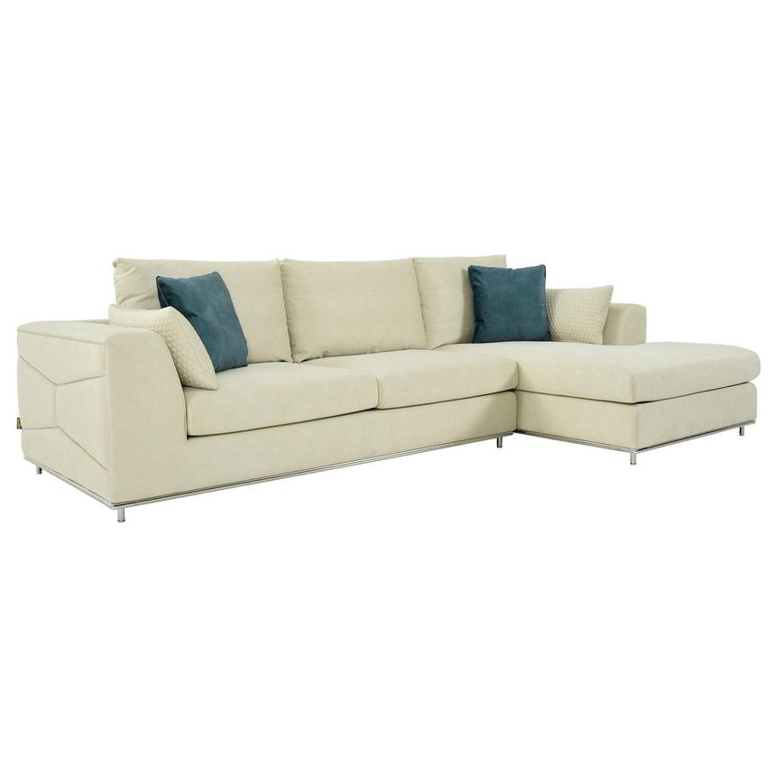 Grigio Cream Sectional Sofa w/Right Chaise  main image, 1 of 9 images.
