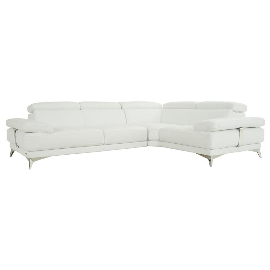 Winner 2.0 White Leather Corner Sofa  main image, 1 of 11 images.