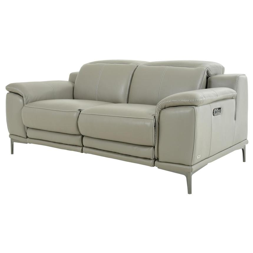 Katherine Taupe Leather Power Reclining Loveseat  alternate image, 2 of 12 images.