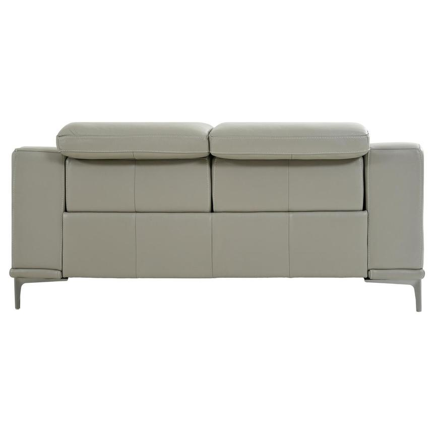 Katherine Taupe Leather Power Reclining Loveseat  alternate image, 5 of 12 images.
