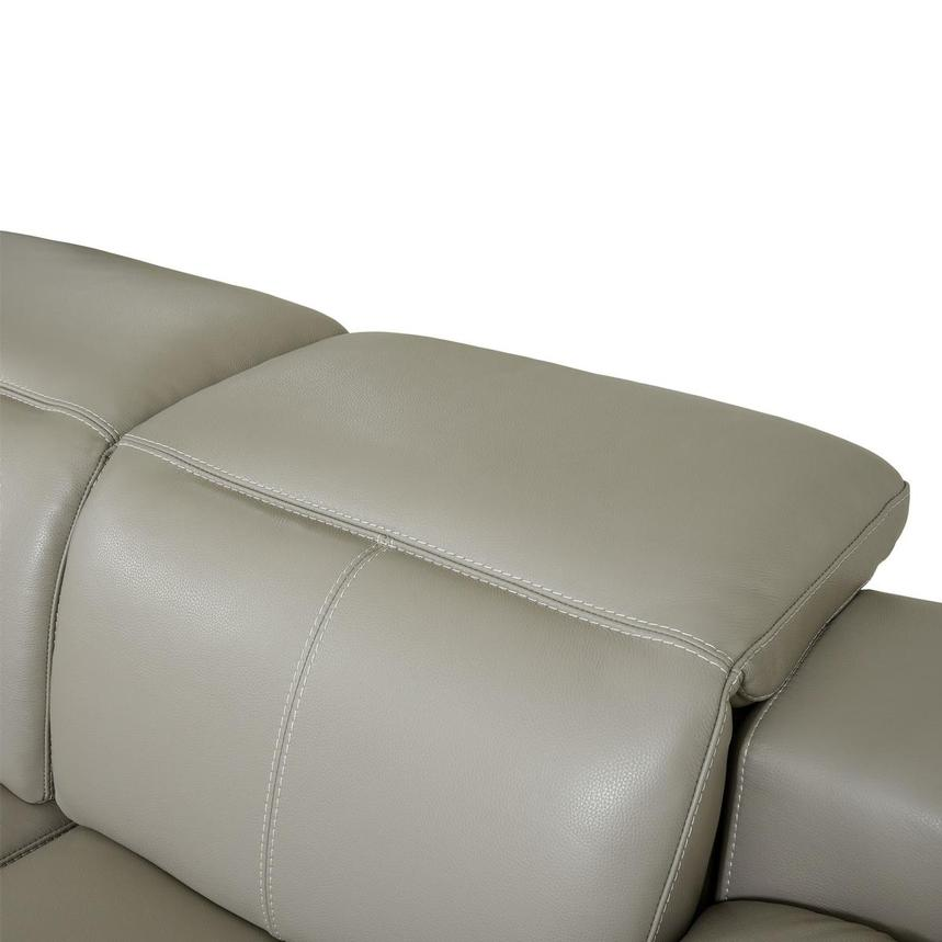 Katherine Taupe Leather Power Reclining Loveseat  alternate image, 7 of 12 images.