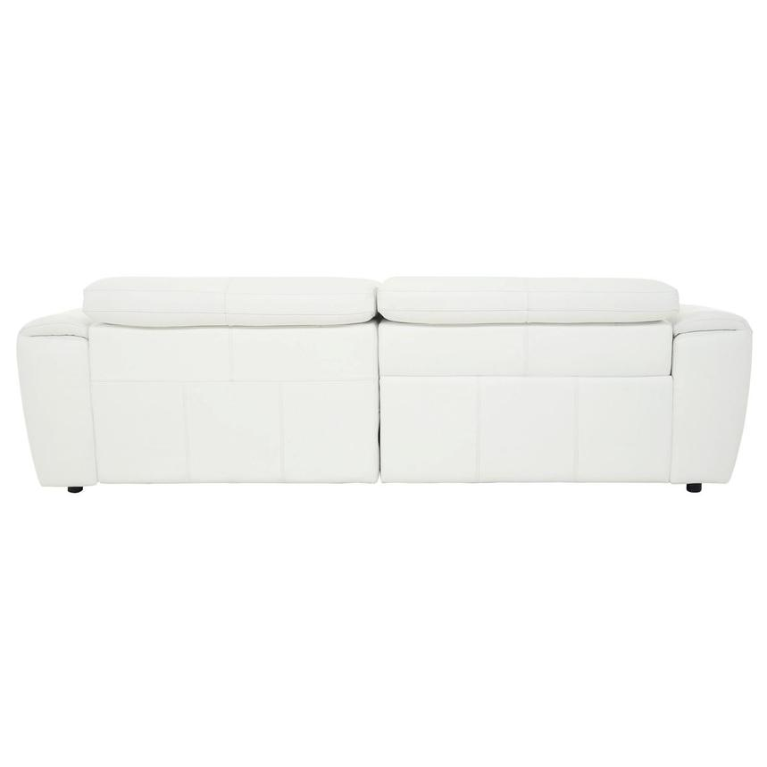 Sofextra White Leather Power Reclining Sofa w/Right Chaise  alternate image, 7 of 16 images.