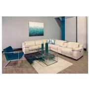 Gian Marco Cream Leather Power Reclining Sectional  alternate image, 2 of 8 images.
