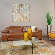 Gian Marco Tan Leather Power Reclining Sectional  alternate image, 2 of 9 images.