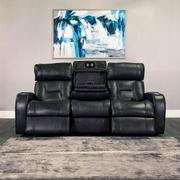 Gio Gray Leather Power Recliner  alternate image, 2 of 13 images.