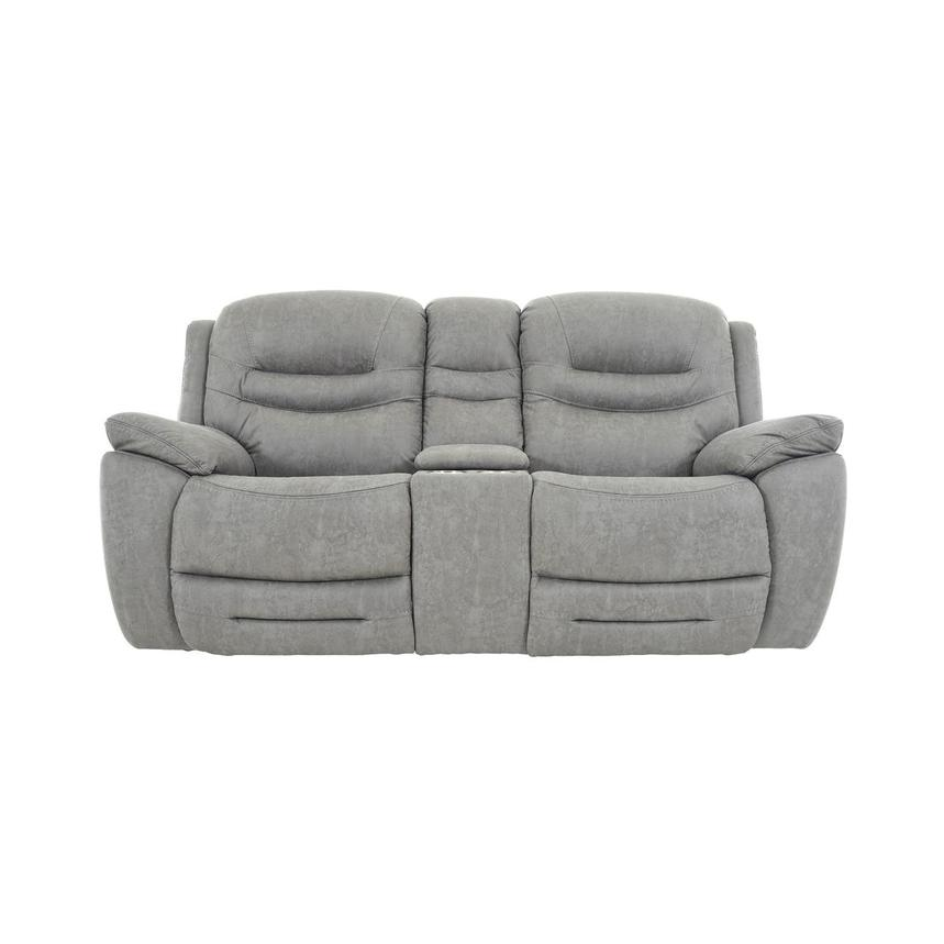 Dan Gray Power Reclining Sofa w/Console  main image, 1 of 13 images.