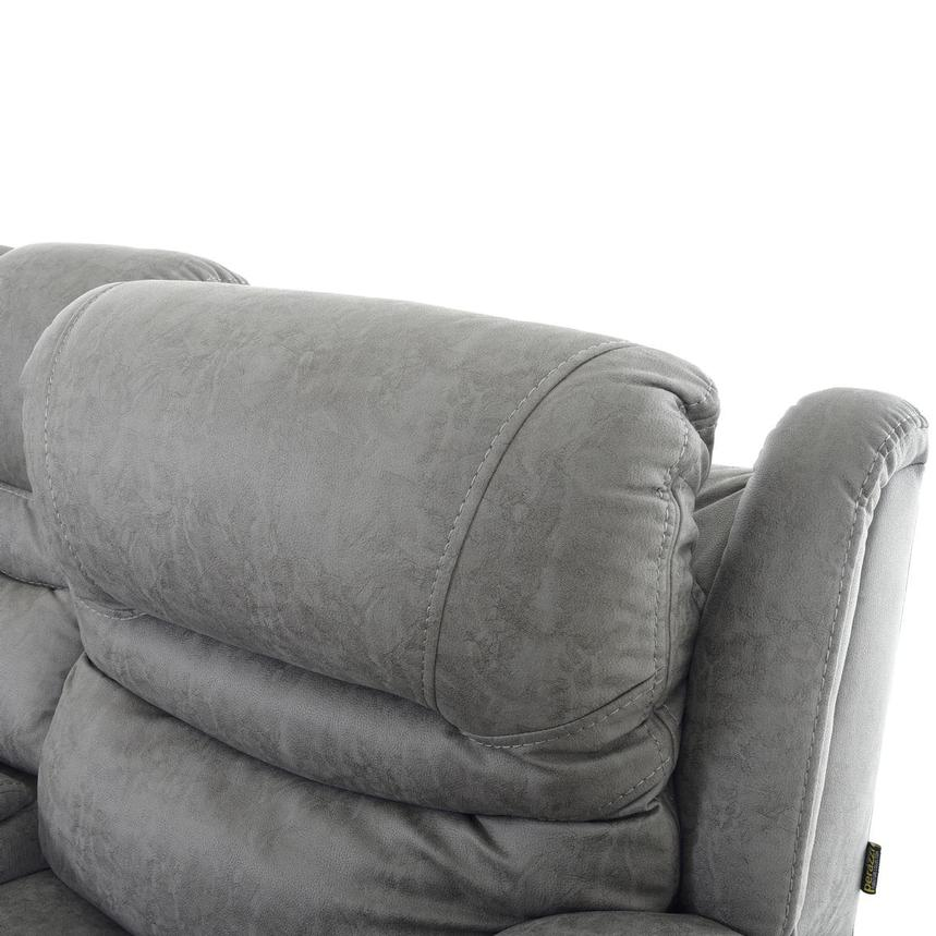 Dan Gray Power Reclining Sofa w/Console  alternate image, 6 of 13 images.
