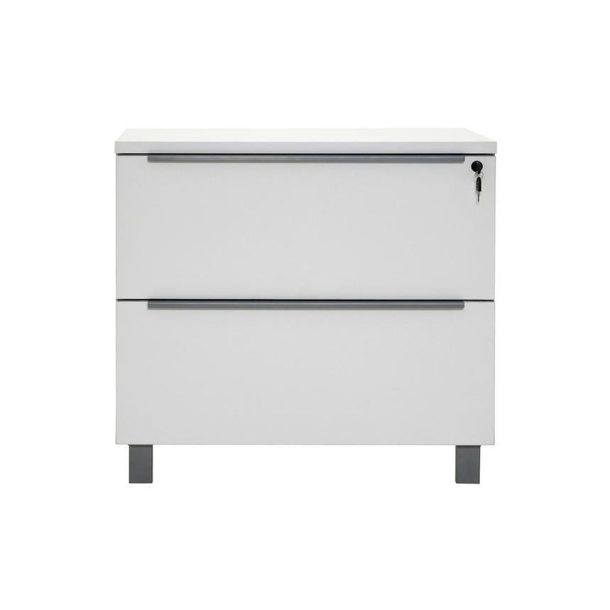 Flavia White Lateral File Cabinet  main image, 1 of 10 images.