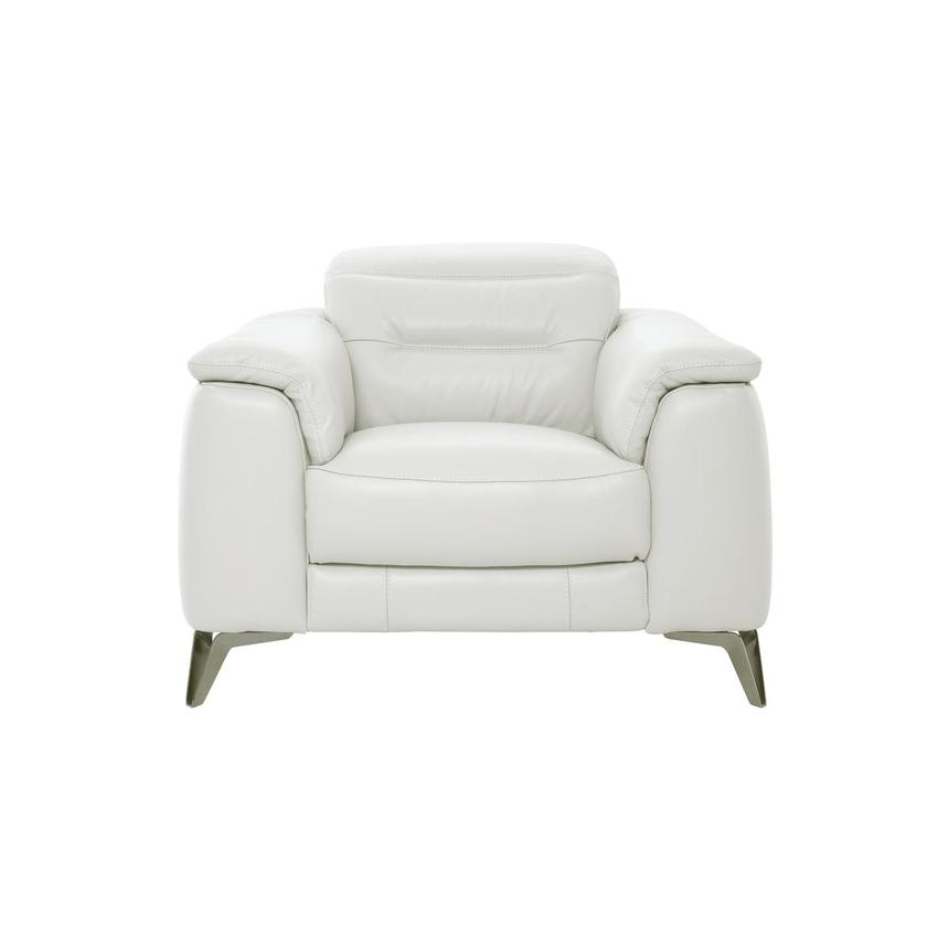 Anabel White Leather Chair  main image, 1 of 11 images.