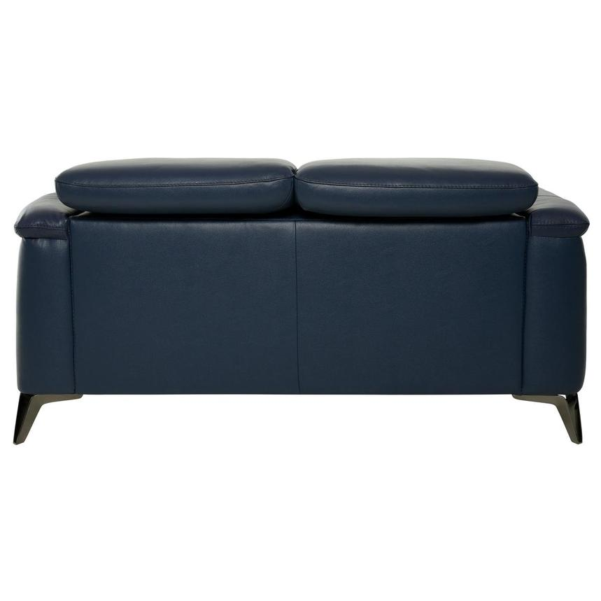 Anabel Blue Leather Loveseat  alternate image, 5 of 10 images.