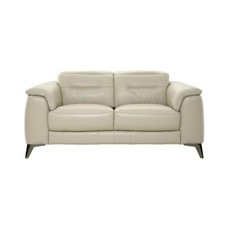 Anabel Cream Leather Loveseat