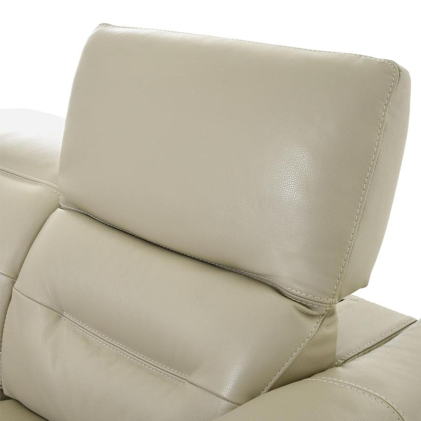 Anabel Cream Leather Loveseat  alternate image, 6 of 11 images.