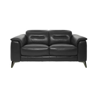 Anabel Gray Leather Loveseat