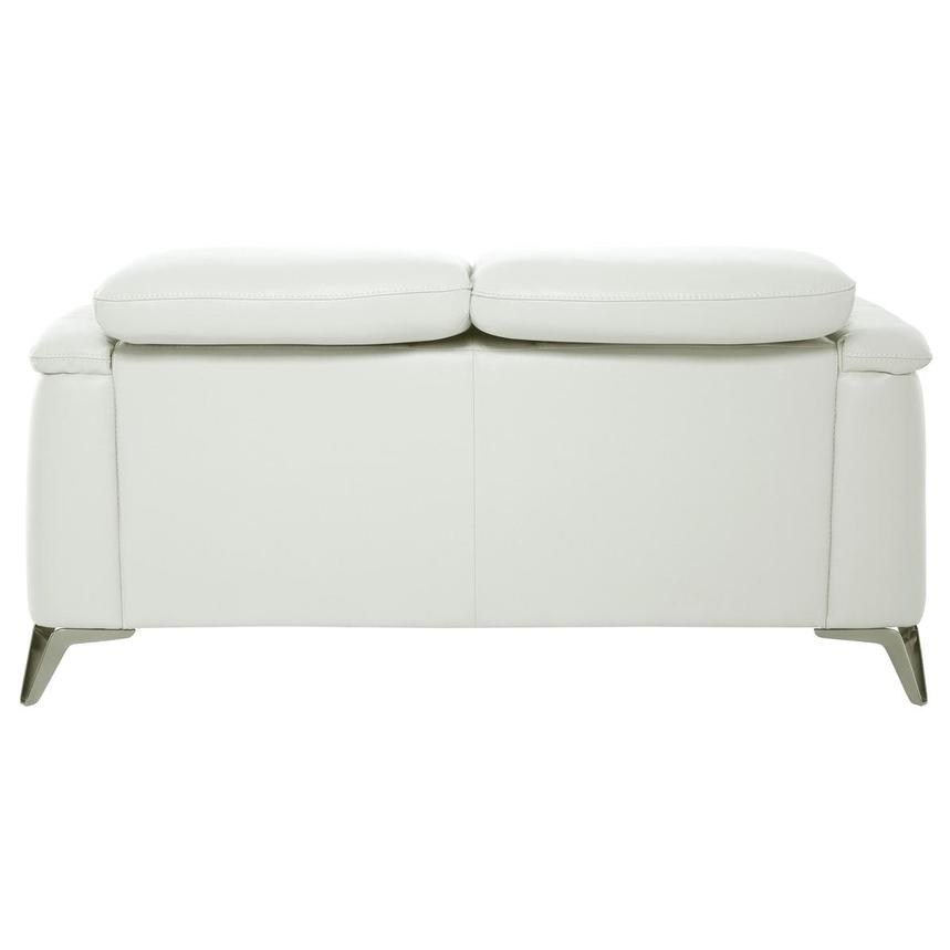 Anabel White Leather Loveseat  alternate image, 5 of 10 images.