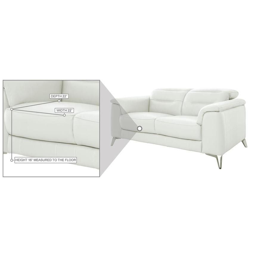Anabel White Leather Loveseat  alternate image, 10 of 10 images.