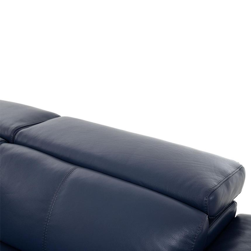 Charlie Blue Leather Power Reclining Sectional  alternate image, 6 of 10 images.