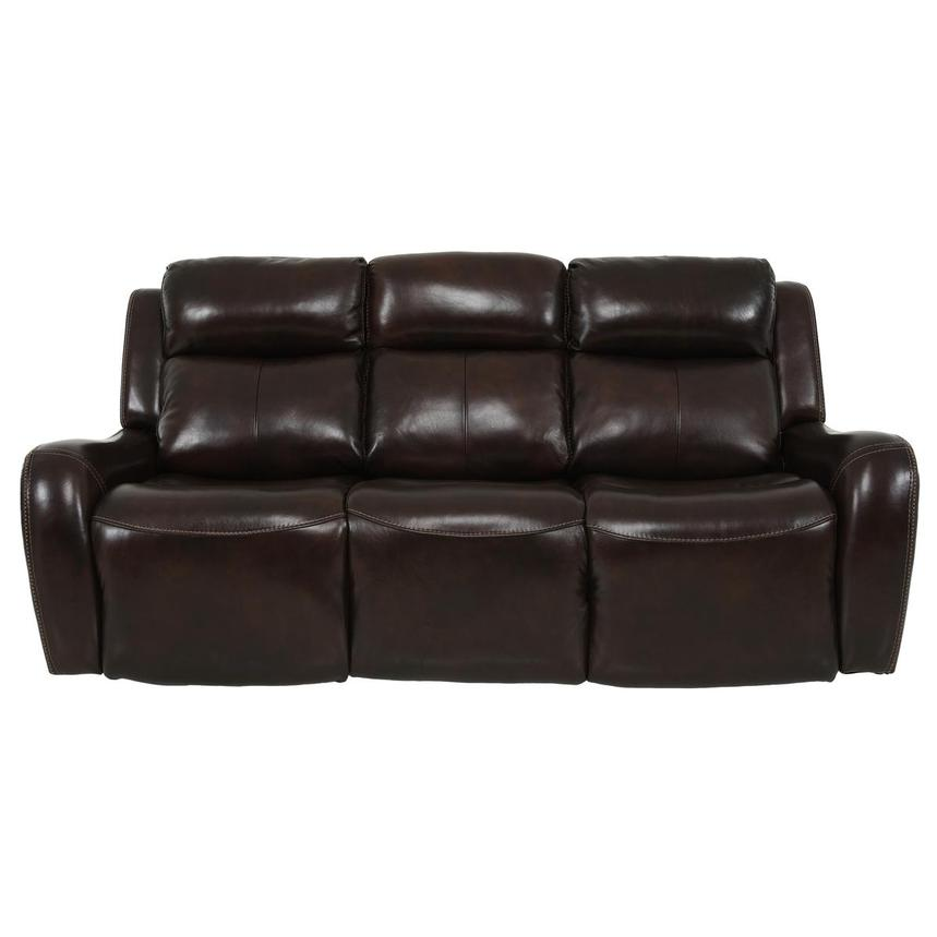 Jake Brown Leather Power Reclining Sofa  main image, 1 of 14 images.