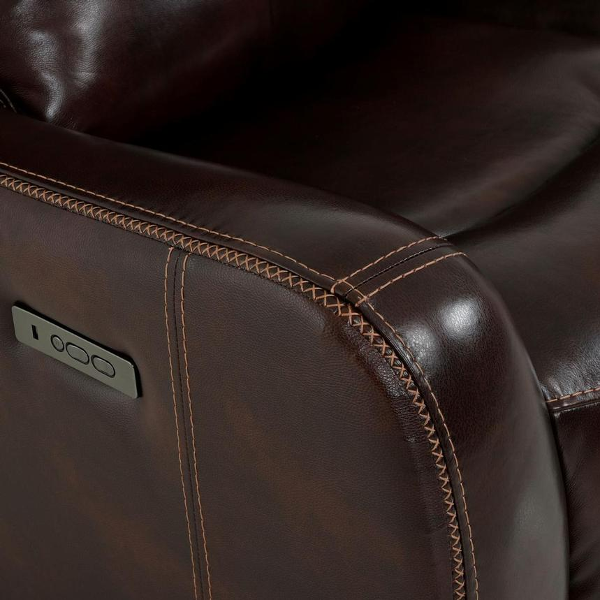 Jake Brown Leather Power Reclining Sofa  alternate image, 11 of 14 images.
