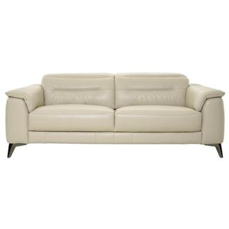 Anabel Cream Leather Sofa