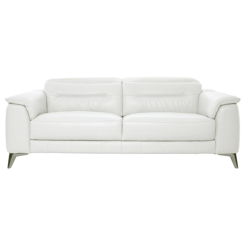 Anabel White Leather Sofa  main image, 1 of 11 images.