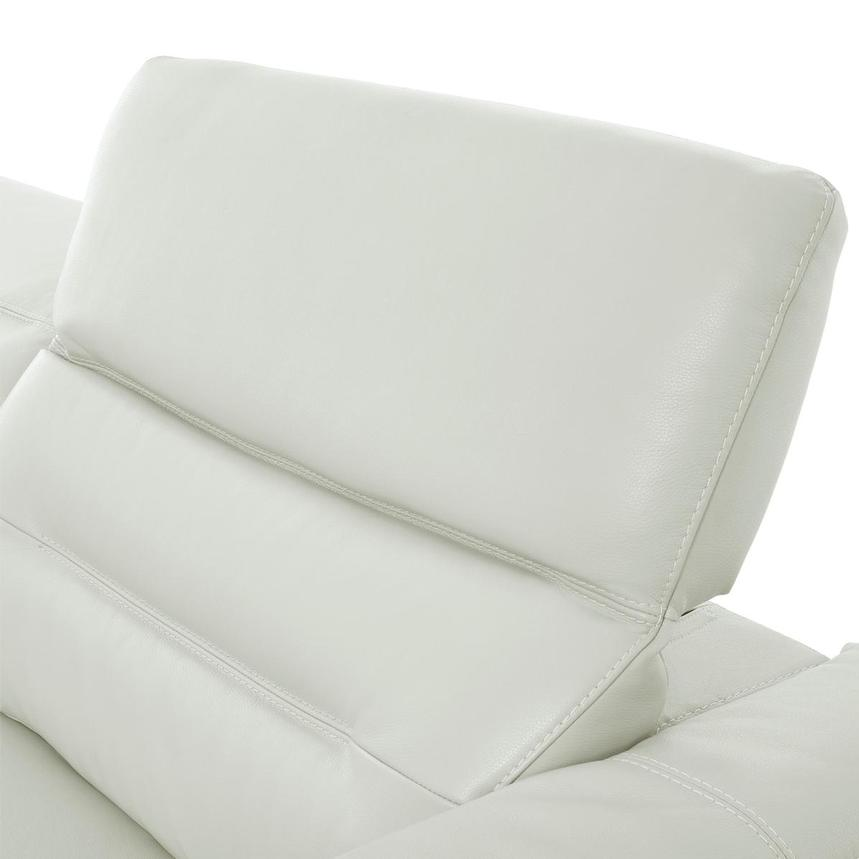 Anabel White Leather Sofa  alternate image, 6 of 11 images.