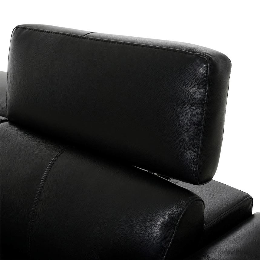 Charlie Black Leather Sofa  alternate image, 6 of 11 images.