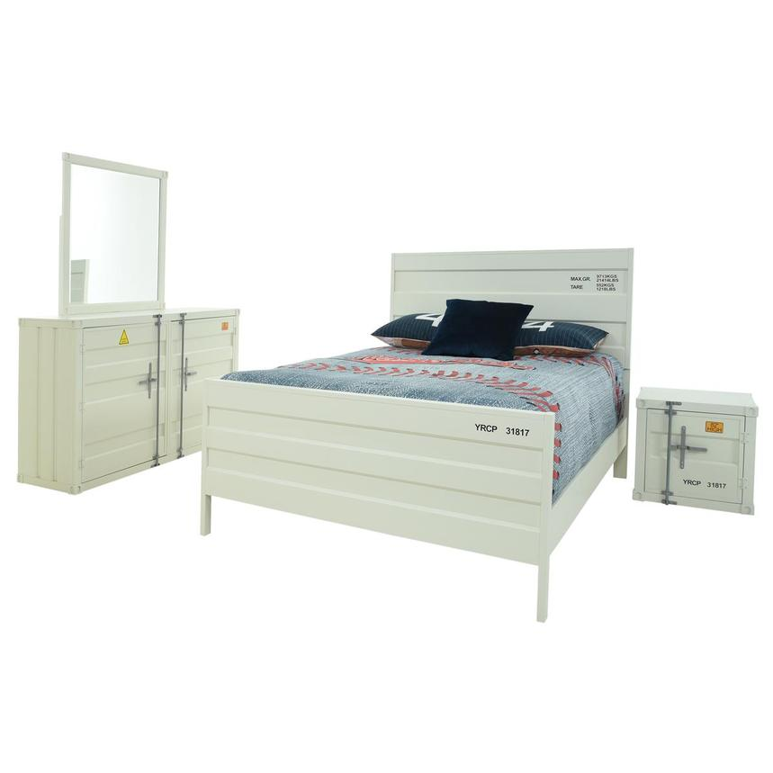 Cruise White 4-Piece Full Bedroom Set  main image, 1 of 6 images.
