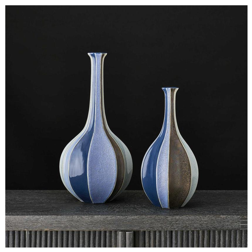 Corinne Blue Set of 2 Vases  alternate image, 2 of 2 images.