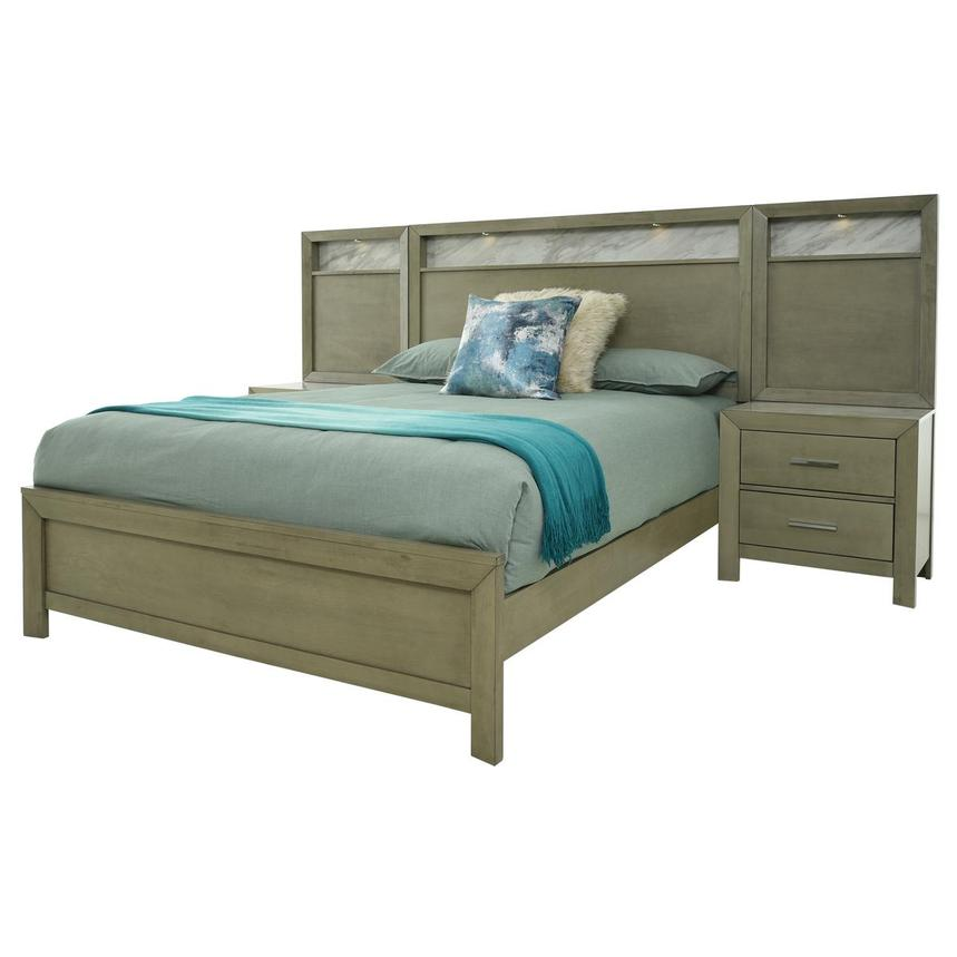 Ivy Queen Panel Bed w/Nightstands