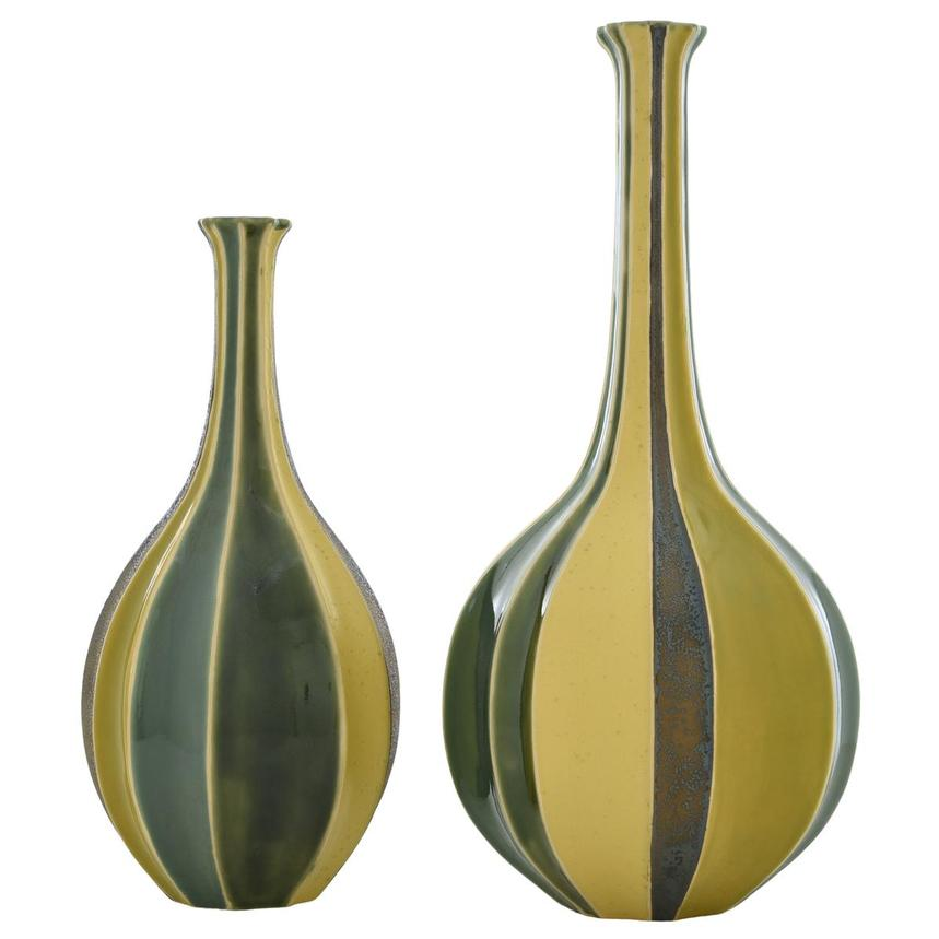 Corinne Yellow Set of 2 Vases  main image, 1 of 7 images.