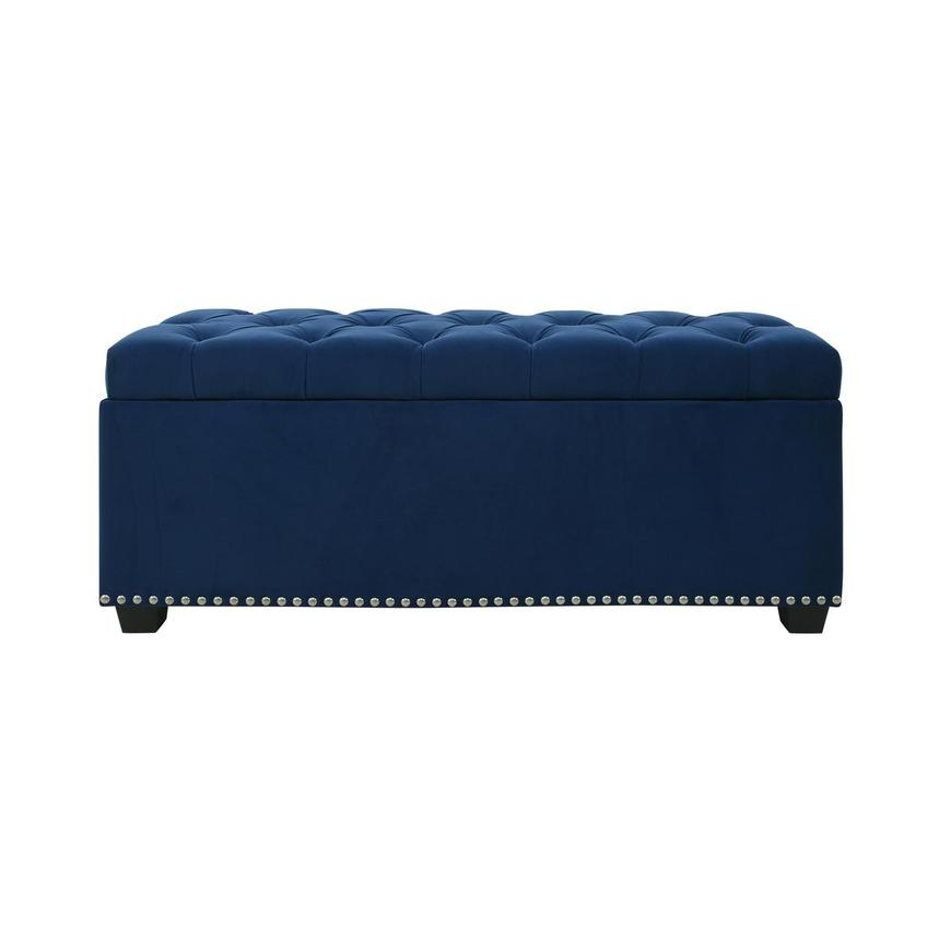 Majestic II Blue Storage Bench  main image, 1 of 11 images.