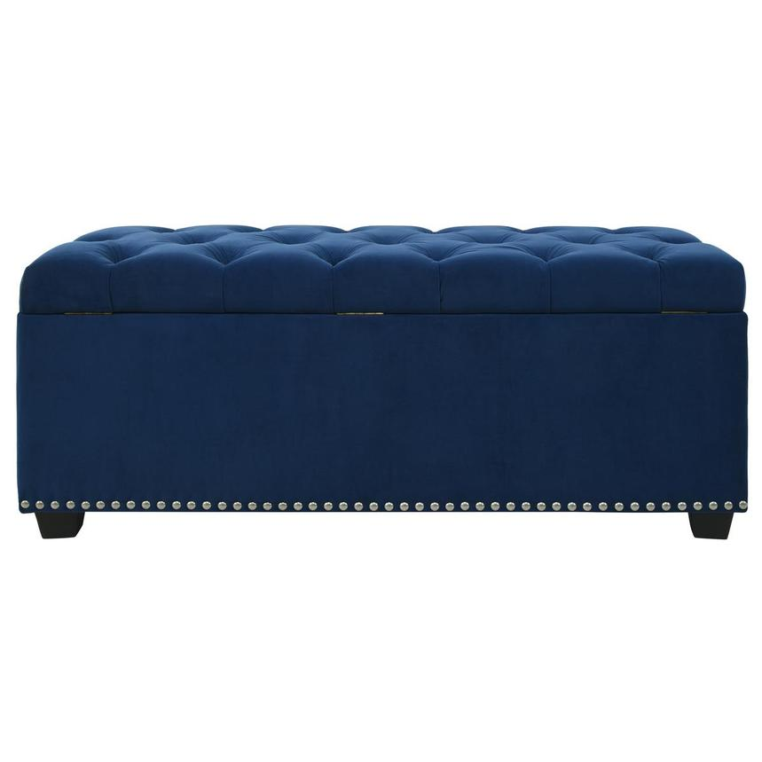 Majestic II Blue Storage Bench  alternate image, 6 of 11 images.