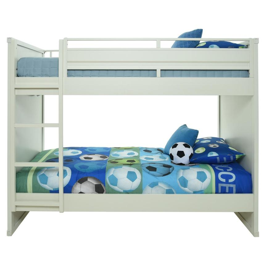 Cruise White Twin Over Twin Bunk Bed  main image, 1 of 9 images.