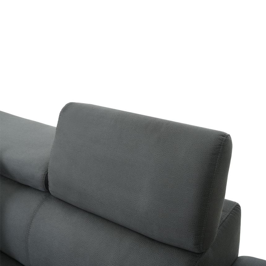 Ilias Gray Corner Sofa w/Right Chaise  alternate image, 7 of 10 images.