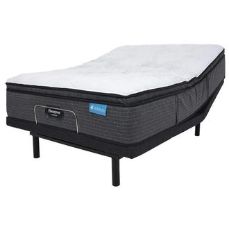 Harmony Cayman-Med Soft Twin XL Mattress w/Essentials IV Powered Base by Serta