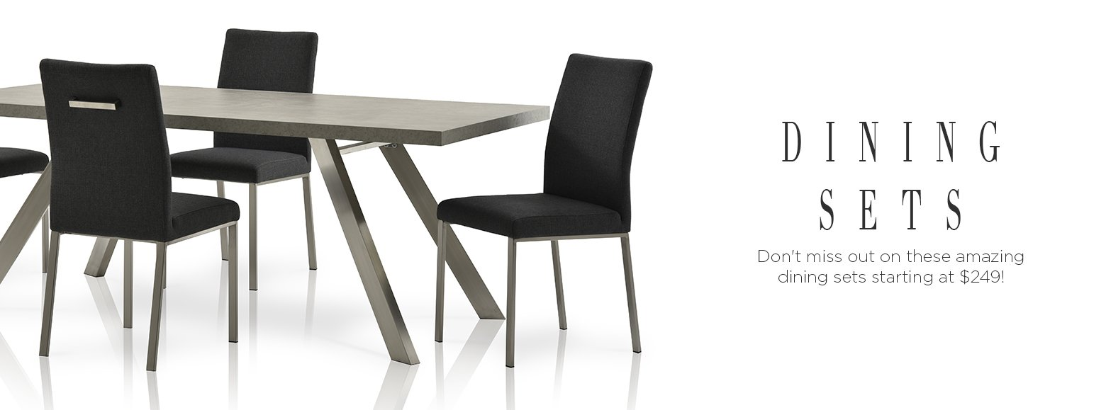 Dining sets. Don't miss out on these amazing dining sets starting at