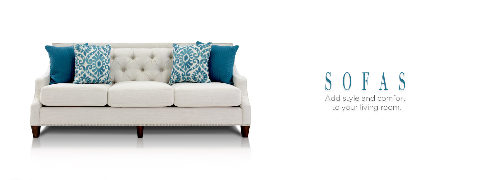 Sofas. Add style to your comfortable living room.