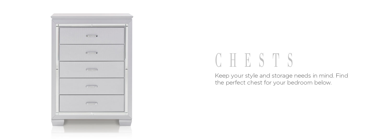 Chests. Keep your style and storage needs in mind. Find the perfect chest for your bedroom below.