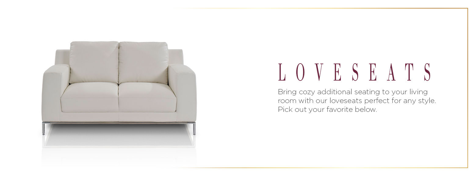 Loveseats. Bring cozy additional seating to your living room with our loveseats perfect for any style. Pick out your favorite below.